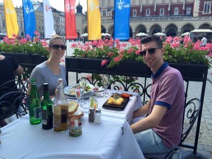 Luke and I at Szara, enjoying our lunch