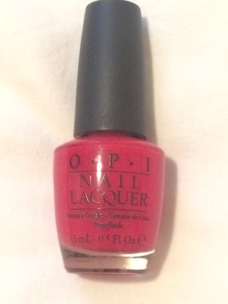 O.P.I nail polish in 'Big Apple Red'
