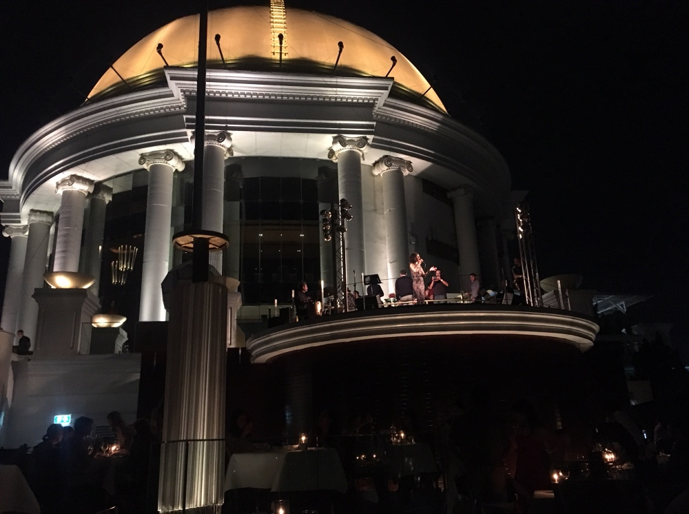 Dome and jazz singer at Sirocco