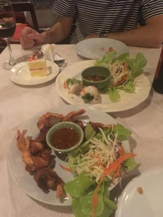 Dash bacon wrapped shrimp